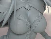 【メガホビEXPO2014 Spring】アルター「ダンジョントラベラーズ2 王立図書館とマモノの封印 メフメラ」 新作フィギュア無彩色サンプル