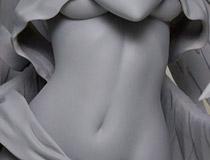 【WF2014夏】神々しい下乳。コトブキヤ「シャイニング・アーク 光明の織天使 サクヤ Mode:セラフィム」 新作フィギュア無彩色原型画像レビュー