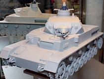 【第54回ホビーショー】価格も公表されたfigma用1/12スケール戦車!マックスファクトリー「figma vehicles ガールズ&パンツァー Ⅳ号戦車」の無彩色サンプルが展示!
