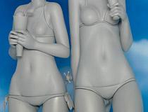 【メガホビ2015春】アルター「ストライクウィッチーズ2 サーニャ&エイラ 水着Ver.」 新作フィギュア原型画像レビュー