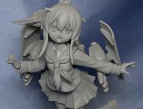 【HR13】wisteria Factoryさん新作ガレキ「艦隊これくしょん -艦これ- 駆逐艦 電」  サフ吹きサンプルが展示!