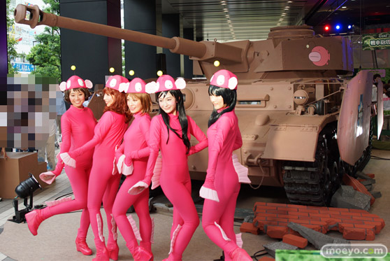 ガールズ&パンツァー ファンイベント IV号戦車日本上陸作戦です! 秋葉原 ベルサール 実物大 戦車 12