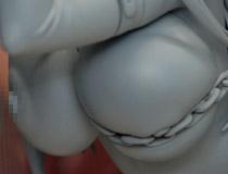 犬江しんすけさんイラストを立体化!スカイチューブ新作フィギュア「雪緒」監修中原型が展示!【WF2016夏】