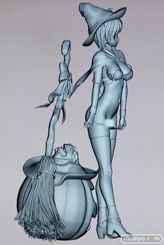 美少女大陸のハロウィン少女の新作アダルトフィギュア原型画像14