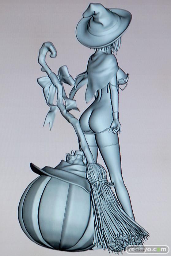 美少女大陸のハロウィン少女の新作アダルトフィギュア原型画像15