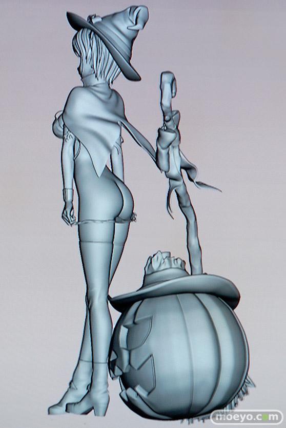 美少女大陸のハロウィン少女の新作アダルトフィギュア原型画像17