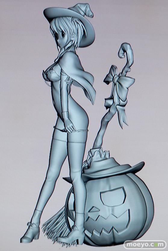 美少女大陸のハロウィン少女の新作アダルトフィギュア原型画像18
