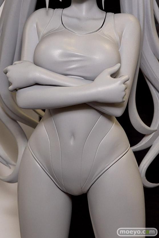 回天堂の超次元ゲイム ネプテューヌ ノワール 競泳水着 立ちポーズver.の新作フィギュア原型画像08