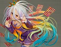 狂気すら感じるすさまじい髪造形!グッドスマイルカンパニー新作フィギュア「ノーゲーム・ノーライフ 白」彩色サンプルが展示!【WF2017夏】
