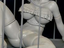 下半身丸出しの美女が檻の中!レチェリー新作フィギュア「HENTAI vol.06」の監修中原型が展示!【2017夏合同展示会】