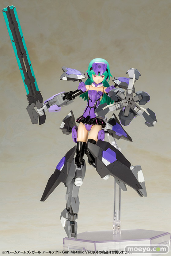コトブキヤのフレームアームズ・ガール アーキテクト Gun Metallic Ver.の新作プラモデル彩色サンプル画像07