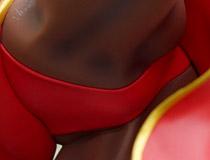 春麗フィギュア 赤ver.と切手シートのセット!コトブキヤ「「ストリートファイター」 30周年記念フレーム切手セット」PVCサンプルが展示!