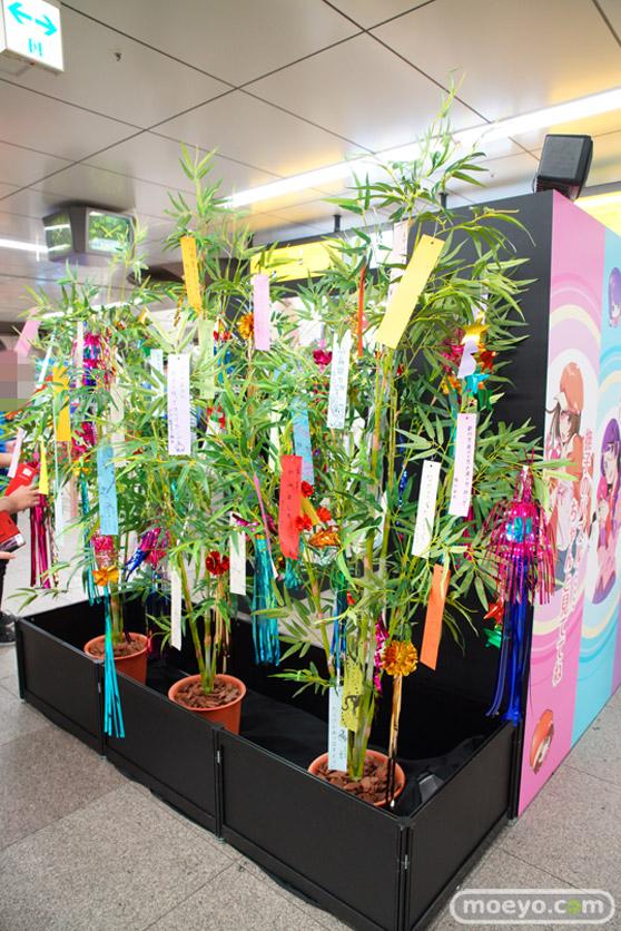 JR秋葉原駅にて〈物語〉シリーズ「七夕展示」の開催05