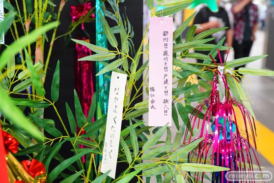 JR秋葉原駅にて〈物語〉シリーズ「七夕展示」の開催18
