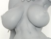 Q-six新作アダルトフィギュア「対魔忍アサギ ~決戦アリーナ~ 井河さくら メス豚娼婦」監修中原型が展示!【WF2018夏】