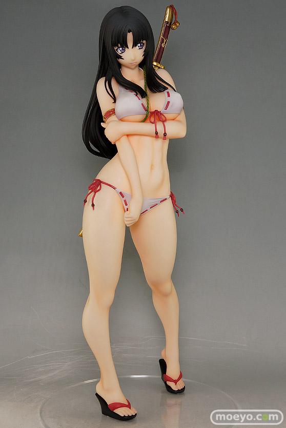 オーキッドシードのクイーンズブレイド 美しき闘士たち 武者巫女 トモエの新作フィギュア彩色サンプル撮りおろし画像02