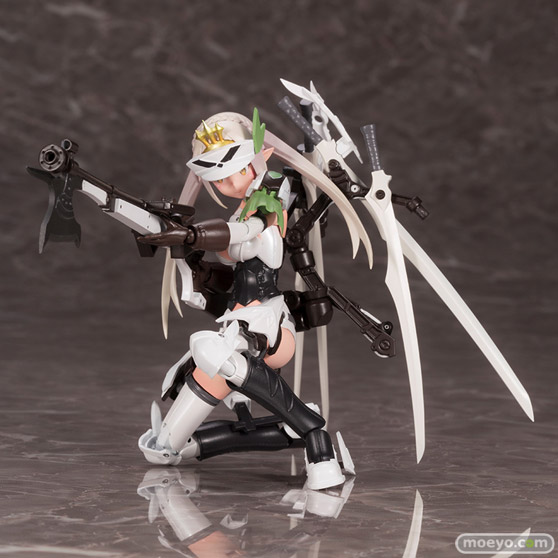 コトブキヤの新作プラモデル メガミデバイス コラボ 武装神姫 猟兵型エーデルワイス 1/1 の彩色サンプル画像07