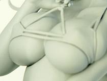 ウェーブ新作フィギュア「アズールレーン プリンツ・オイゲン【色褪せない笑顔】」監修中原型が展示!