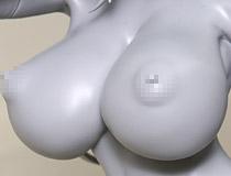 朝凪さん描く爆乳美少女がペアで登場!ロケットボーイ新作エロフィギュア「ソフィア」監修中原型が展示!