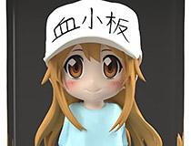 B´full FOTS JAPAN(ビーフル フォトス ジャパン) はたらく細胞「血小板」フルカラー3Dクリスタルフィギュア