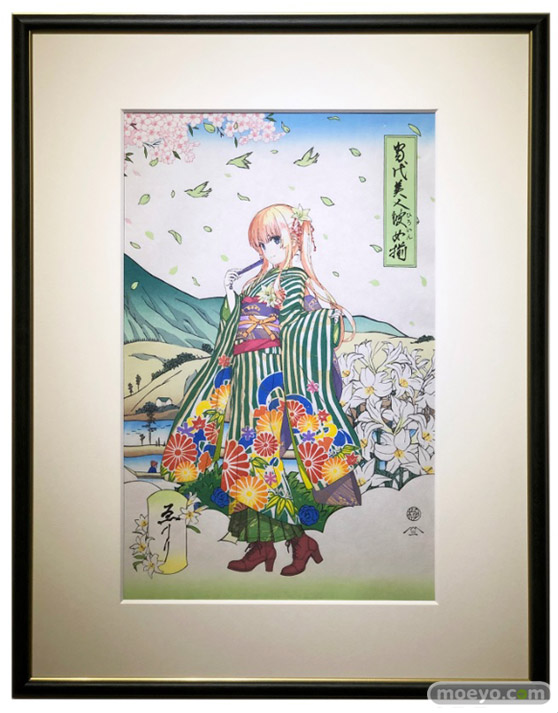 浮世絵木版画『当代美人彼女揃』澤村・スペンサー・英梨々 KADOKAWA 01