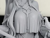 ファット・カンパニー新作美少女フィギュア「アークナイツ シャニング 静かなる月夜」監修中原型が展示!【ワンホビ32】